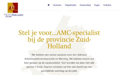 1 jaar bij de provincie Zuid-Holland – Overzicht en werving opvolger