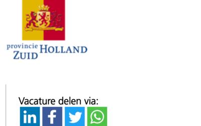 1 jaar bij de provincie Zuid-Holland – Projectleider Aanbesteding Jobmarketing